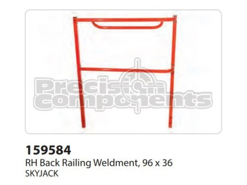 SkyJack RH Back Railing WLDT, 96x36, Part 159584