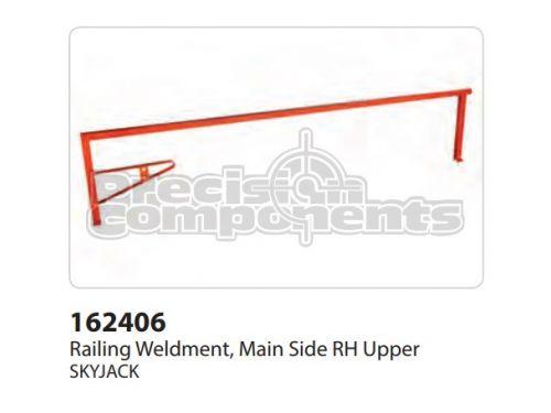 SkyJack Railing Weldment, Main Side RH Upper - Part Number 162406