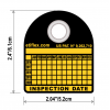 100 Six-Year Periodic Inspection Tags w/ Custom Hole Puncher